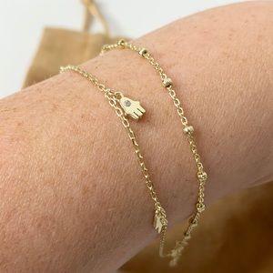 Rachel Zoe Jewelry - NIB Rachel Zoe Evil Eye Ankle Bracelet